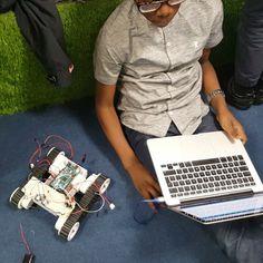 Heated up challenge between Team MINDblowers and the emerging girls team (Team Possible)   #teammindblowers #teampossible #tech #arduino #challenge #arduinochallenge #makeymakey #Barking #dagenham #eastlondon #library #digilab #raspberrypi #robotwars #robotics by digilabhub