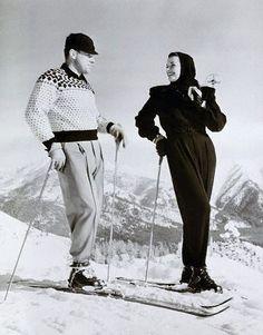 Jane Russell having some winter fun.