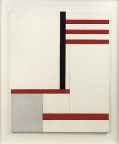 "blastedheath: "" Georges Vantongerloo (Belgian, 1886-1965), Fonction de lignes-noir rouge, 1936. Oil on plywood, 82 x 100 cm. """