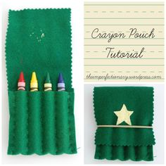 crayon pouch diy | The Imperfectionary crayon pouch