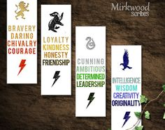 Hogwarts House Virtues Printable Bookmarks ❤ Liked On pertaining to Harry Potter House Bookmarks Printable Cadeau Harry Potter, Harry Potter Fiesta, Harry Potter Bricolage, Cumpleaños Harry Potter, Harry Potter Bookmark, Anniversaire Harry Potter, Harry Potter Birthday, Creative Bookmarks, Diy Bookmarks