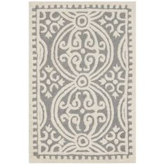 Cathay Silver & Ivory Wool Hand-Tufted Area Rug