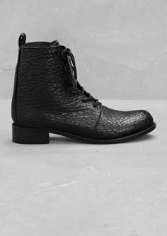 & Other Stories | black lace up boots