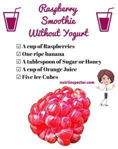 Raspberry Smoothie Without Yogurt - @nutriinspector