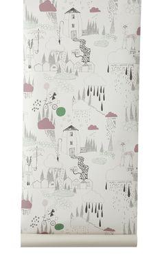 In the Rain wallpaper by Ferm Living