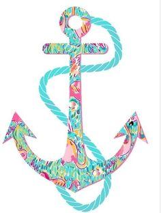 Lilly print anchor. So chic! preppy