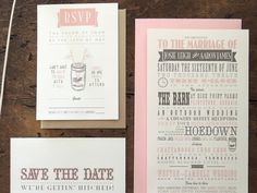 Dribbble - Hoedown Typography Wedding Invitations by Shannon Mayhew