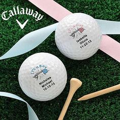 LOVE THIS!!!! New Baby© Personalized Golf Ball Set - Callaway® Warbird Plus