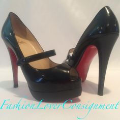 Fashion Lover Consignment - Christian Louboutin Black Mary Jane Peep Toe Heels size 37.5, $475.00 (http://www.fashionloverconsignment.com/christian-louboutin-black-mary-jane-peep-toe-heels-size-37-5/)