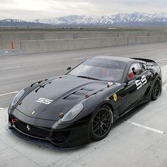 Powerful Black Ferrari 599 #Ferrari599