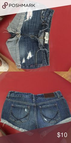 Pink shorts size 2 Shirt made by Pink size 2 PINK Victoria's Secret Shorts Jean Shorts