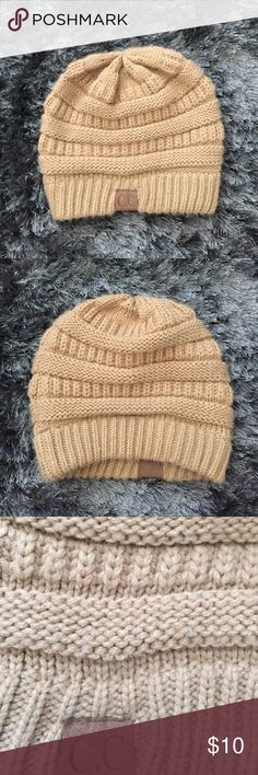 Tan Beanie Tan CC Beanie. Comfortable, thick.100% acrylic. First and second picture show true color the best CC Beanie Accessories Hats