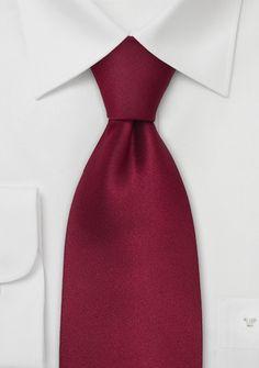 Einfarbige Krawatte dunkelrot