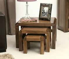 Shiro Walnut Nest of 3 Coffee Tables http://solidwoodfurniture.co/product-details-pine-furnitures-3049-shiro-walnut-nest-of-coffee-tables.html