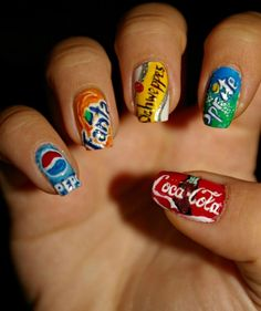 Paint My Nails With Favorite Cartoons, Movies And Snacks -I Paint My Nails With Favorite Cartoons, Movies And Snacks - Trendy Nails Art 2020 - Trendy Nail Art - I Paint My Nails With Favorite Cartoons, Movies And Snacks Crazy Nail Art, Crazy Nails, Cute Nail Art, Toe Nail Designs, Acrylic Nail Designs, Art Designs, Food Nail Art, Nagellack Design, Nails For Kids