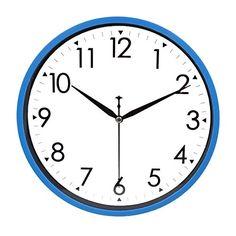Hippih 10 Silent Quartz Decorative Wall Clock With Gl Cover Non Ticking Digital