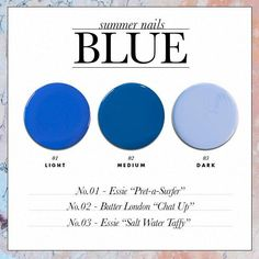 The Perfect Summer Nail Polish Colors for Your Skin Tone - Blue // SHOP this list: www.dailymakeover.com