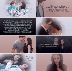 """Edward and Bella - """"You are my life now"""" Twilight Movie Scenes, Twilight Saga Quotes, Twilight Saga Series, Twilight New Moon, Twilight Photos, The Cullen, Edward Cullen, Bella And Edward Wedding, Best Movie Lines"""