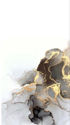 Gray and golden marble