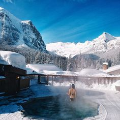 Join us in finding the best hot tubs and hot springs in the world #hotsprings #banff