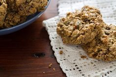 Happy Trails Adventure Cookies - #flaxseeds #maplesyrup #pecans #oats