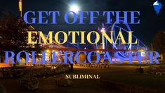 This Powerful subliminal will make you take control of your life and get off the emotional roller coaster. Listening to this quick 15 minute subliminal conti. Binaural Beats, Calm Down, Got Off, Roller Coaster, Good Vibes, How To Fall Asleep, Forgiveness, Letting Go, Affirmations