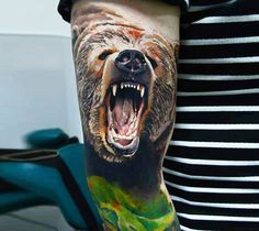 bear tattoo by Timur Lysenko from Wroclaw, Poland | No. 1411