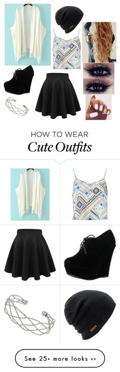 """Cute outfit for school"" by mariecstack on Polyvore featuring moda, Boohoo, Forever Link, Coal ve Wallis"