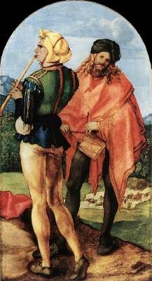 Two Musicians by Albrecht Durer  c. 1504