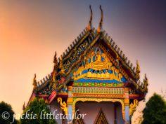 Wat Ladthiwanaram sunset small temple #3