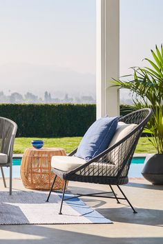 Black, powder coated metal legs finish the look and keep your Aeri sturdy and strong for a season of sunning. #OutdoorFurniture #OutdoorChair #PatioFurniture #OutdoorStyle Lounge Chairs, Outdoor Chairs, Outdoor Furniture, Outdoor Decor, Hammock, Powder, Strong, Legs, Metal