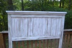 Dirty White Wash Full Headboard on Etsy, $130.00