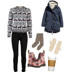 Winter Outfit is not complete without some dr. martens :)