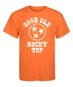 Take a look at this Orange 'Good Ole Rocky Top' Tee - Men's Regular today!