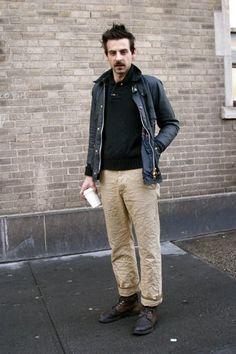 crinkled pants.  nice jacket