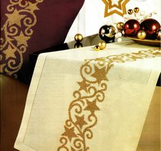 Gallery.ru / Photo # 102 - New Year and Christmas 2 - yulyax11 Cross Stitch Embroidery, Cross Stitch Patterns, Metallic Thread, Projects To Try, Fabric, Christmas, Scrappy Quilts, Tablecloths, Xmas