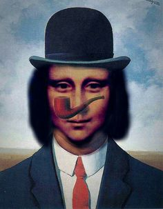 La Madone, Mona Lisa Parody, Mona Lisa Smile, Rene Magritte, American Gothic, Classical Art, Italian Artist, Art World, Book Art
