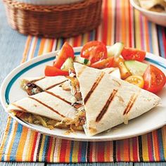 Caramelized Onion and Blue Cheese Quesadillas Recipe. Make it gluten free using Absolutely Gluten Free Flatbread www.absolutelygf.com #Recipe #Quesadilla #Glutenfree #Absolutelygf