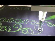 Day 33- Border/Sashing Idea Ribbon Curl with a Pearl