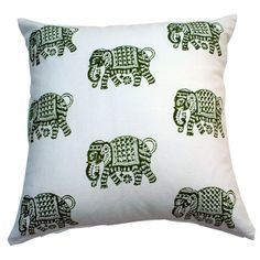 I pinned this Elephant Walk Pillow in Avocado from the Aalamwaar event at Joss and Main!