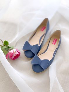 Balerini din piele   Pantofica.roflat shoes jeans blue leather bows rose Pumps, Heels, Summer Shoes, Bows, Leather, Fashion, Heel, Arches, Moda