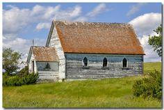 Old forgotten church in Saskatchewan, Canada