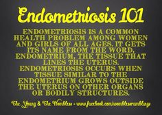 Endometriosis: it affects 1 in 10 women Endometriosis Awareness, Fibromyalgia, Health Facts, Health Quotes, Chronic Illness, Chronic Pain, Interstitial Cystitis, Healthy Food Delivery, Image Healthy Food
