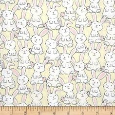Timeless Treasures Babes in Farmland Bunnies Butter Fabric