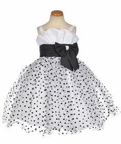 """Kids World """"Heartfelt"""" Dress with Scarf - white/black, 6x Kids World,http://www.amazon.com/dp/B00GZBKU76/ref=cm_sw_r_pi_dp_g.c5sb0YXRSF8ZFG"""