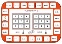 Bingo voor 2. Spelbord erbijsommen tot 10
