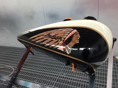 Indian motorbike tank decal - custom made by Sign Dazign, Melbourne, Australia