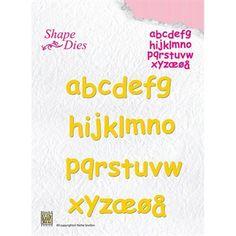 Nellie Snellen Shape Die - Alphabet (små bogstaver)