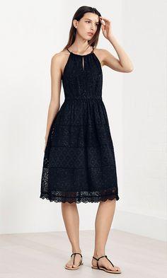 Karen Millen Spring | Summer 2016 - Black broderie dress