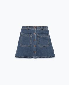 DENIM SKIRT WITH POCKETS-Woman-NEW THIS WEEK | ZARA United States